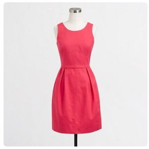 J. Crew Coral Textured Cotton Dress Sz 4 Fit Flare